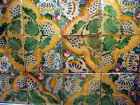 Piastrelle ceramica siciliana xviii sec piastrella originale